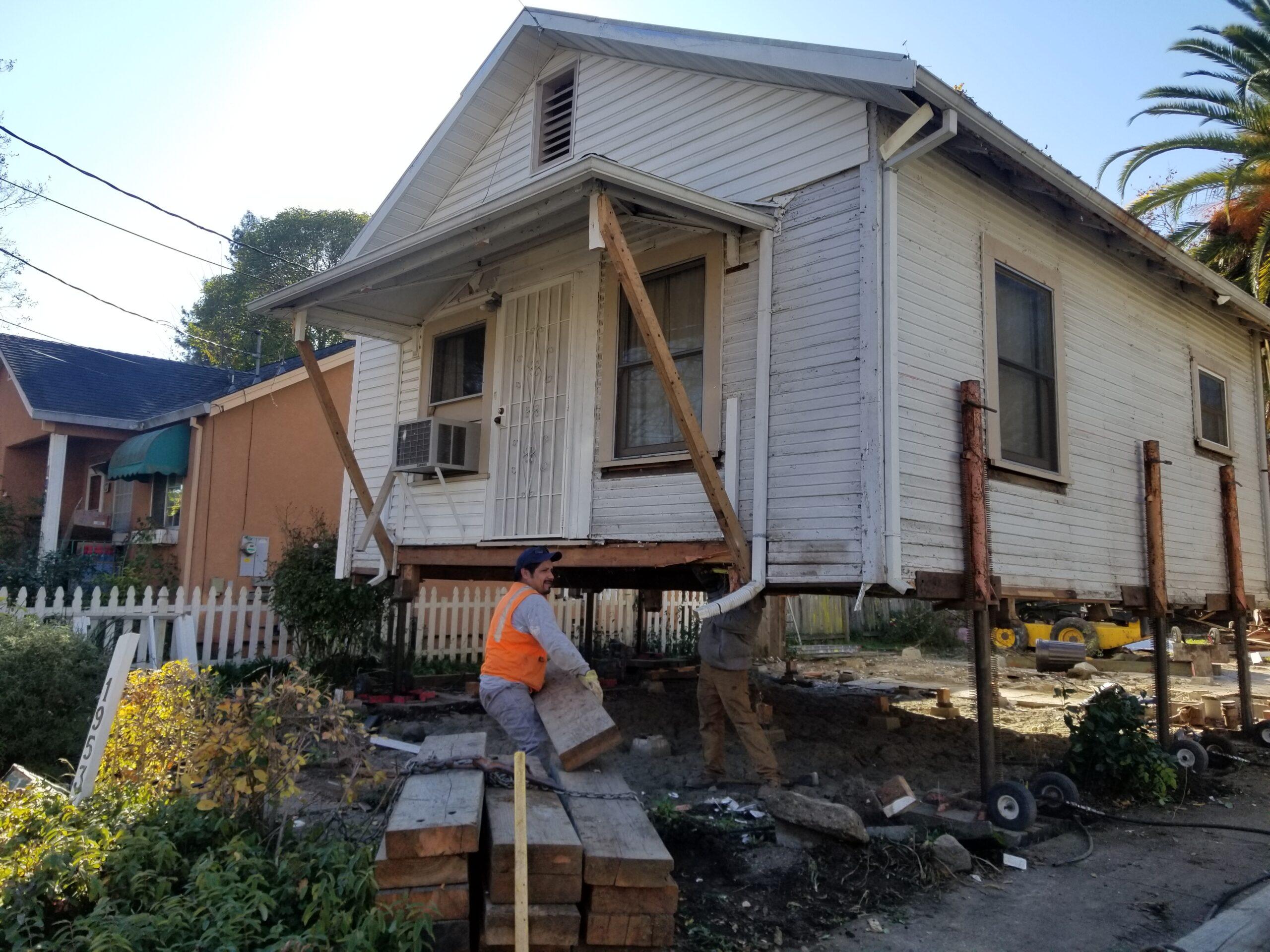 House Lifting - Phil Joy House Moving & Leveling